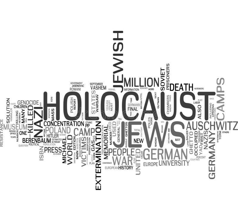 Holocausto - judeus ilustração stock
