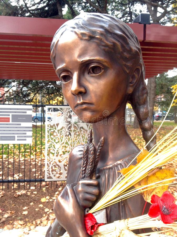 Holodomor纪念雕象在多伦多 库存照片
