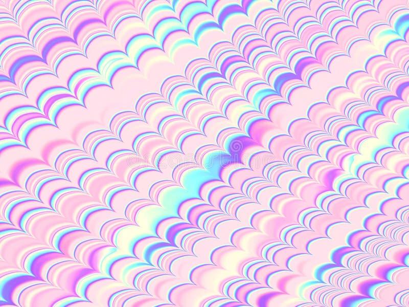 Holograficzny foliowy Falowego wzoru Kolorowy tło ilustracji