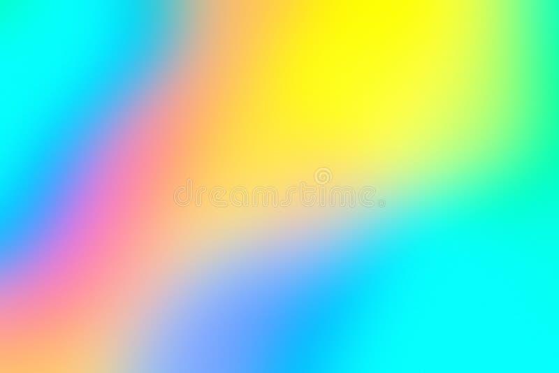 Holograficzny kolorowy abstrakcjonistyczny neonowy tło ilustracja wektor
