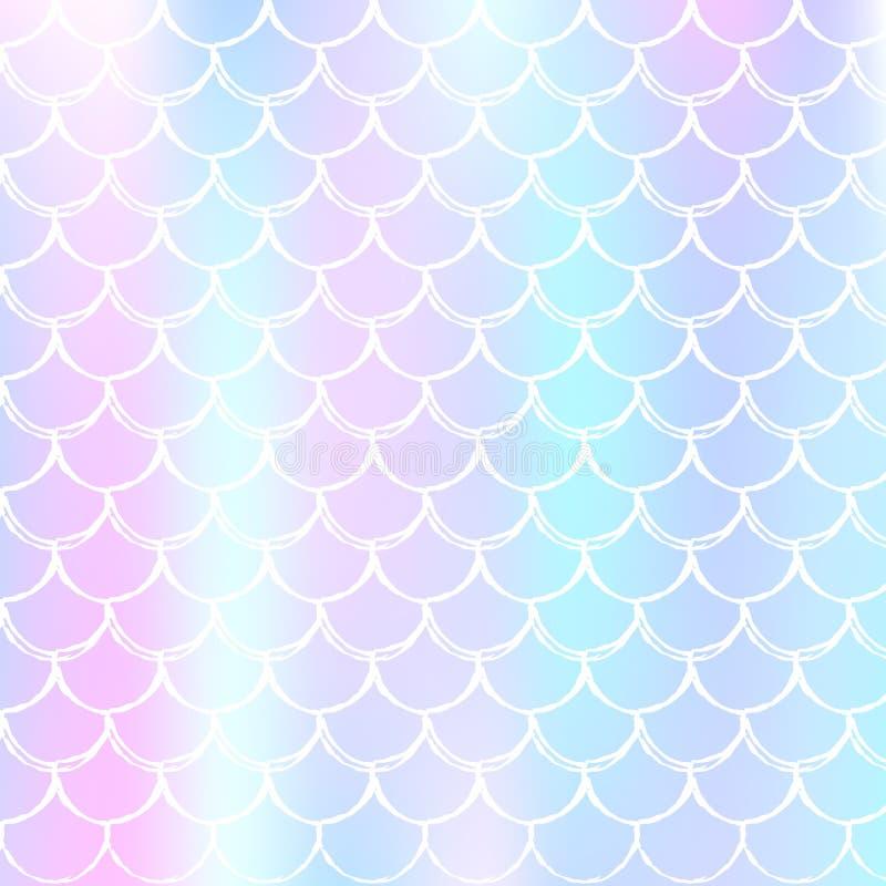Holograficzny syrenki tło z gradientem waży ilustracja wektor