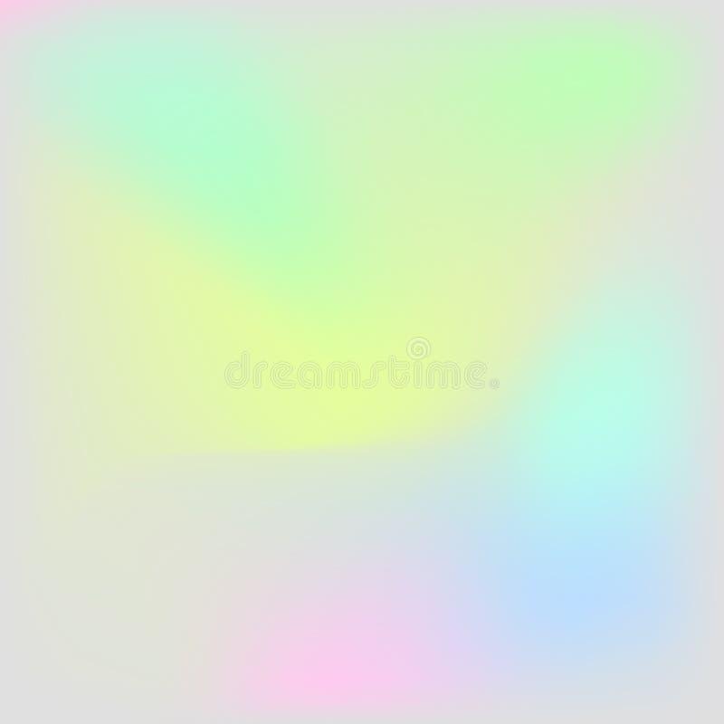 Holograficzny tekstury tło Iryzuje holograma tło ilustracja wektor