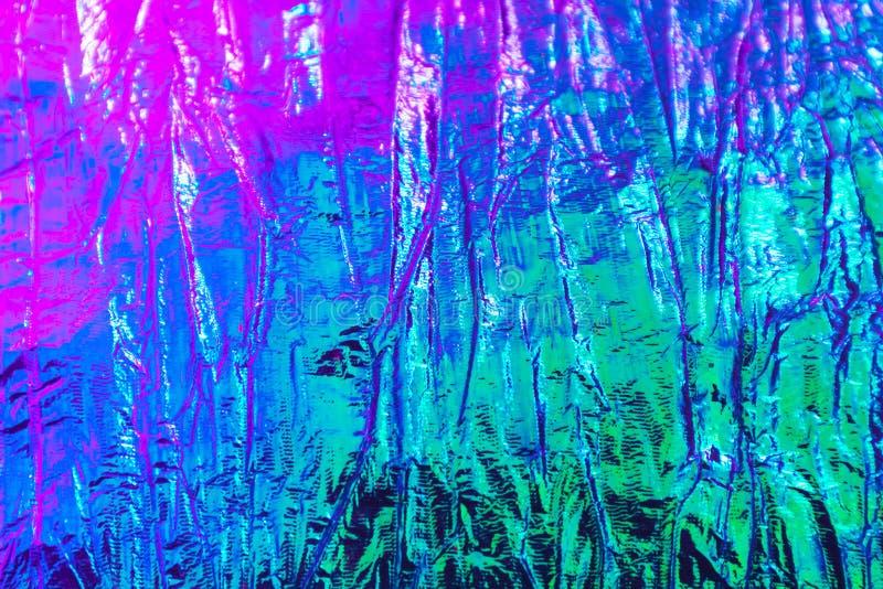 Holografische abstracte neon geweven achtergrond royalty-vrije stock afbeelding