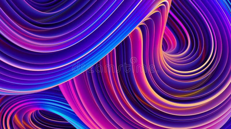 Holografische vloeibare vormen abstracte achtergrond voor affichesontwerp stock illustratie