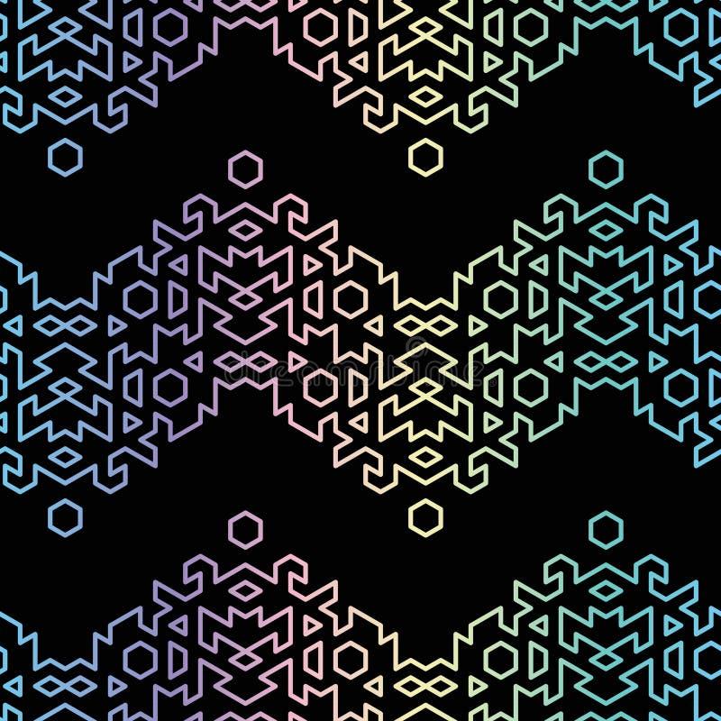 Holografiskt pärlskimrande opalescent geometrisk färgruta utan upprepning av vektormönster royaltyfri illustrationer