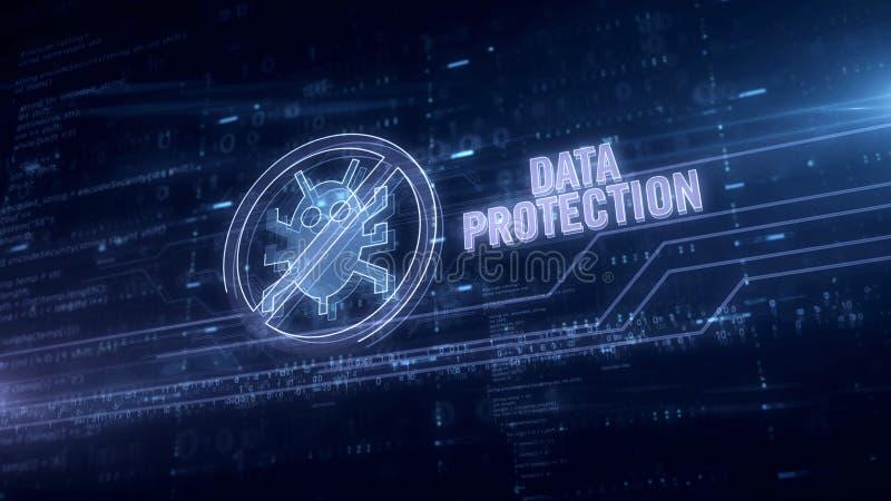 Hologram защиты данных в электрическом круге стоковая фотография rf