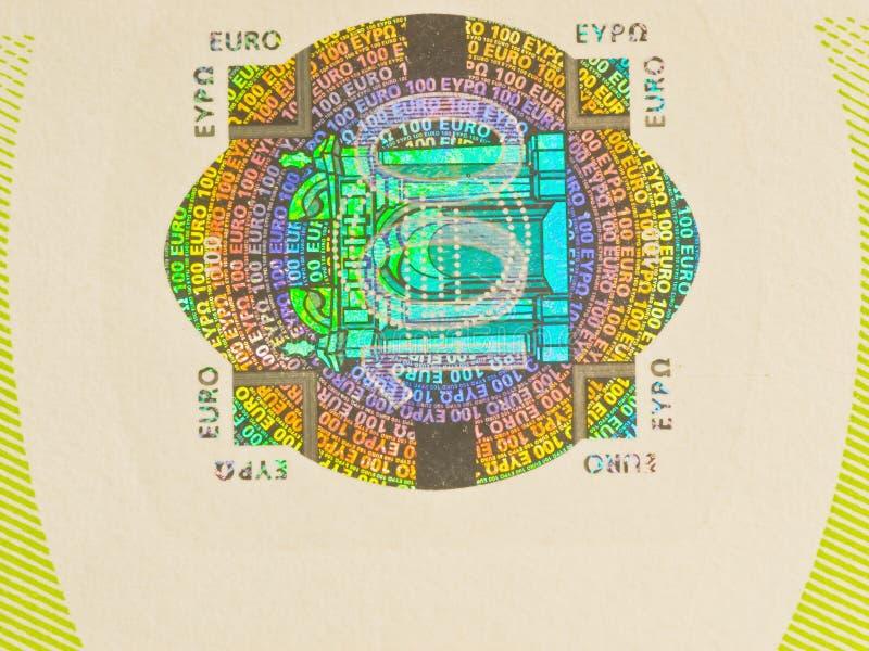 Download Hologram 100 euro stock photo. Image of hologram, macro - 7323172