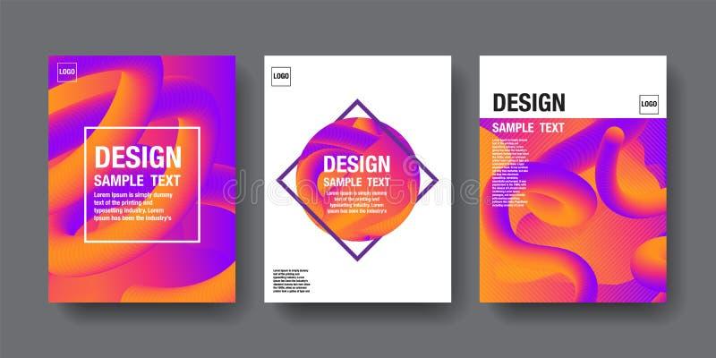 Hologram Abstract Background, Template Design, 3D vector, Holography Foil layout, Fluid Trendy design. royalty free illustration