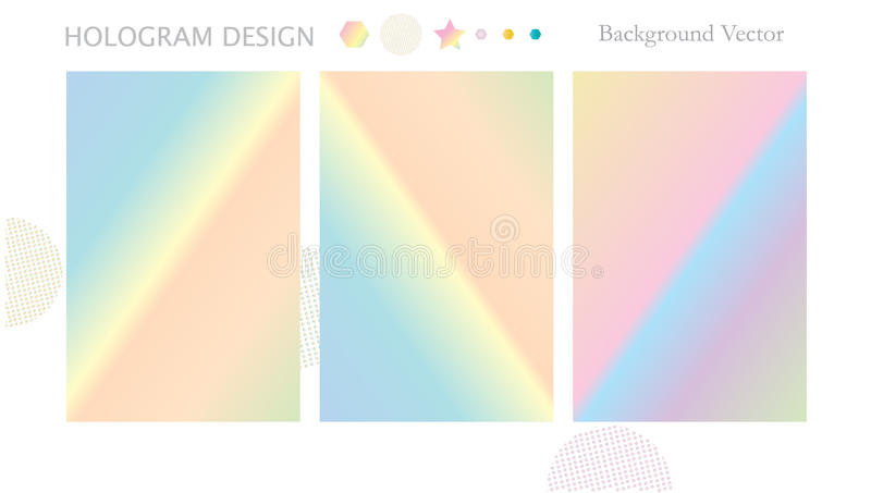 Hologram background stock illustration