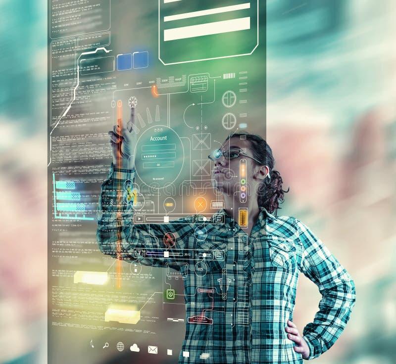 Hologram kartotek projekt obrazy stock