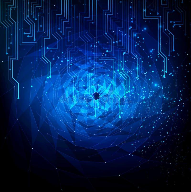 Holograma abstrato do efeitos tecnologicos modernos ilustração do vetor