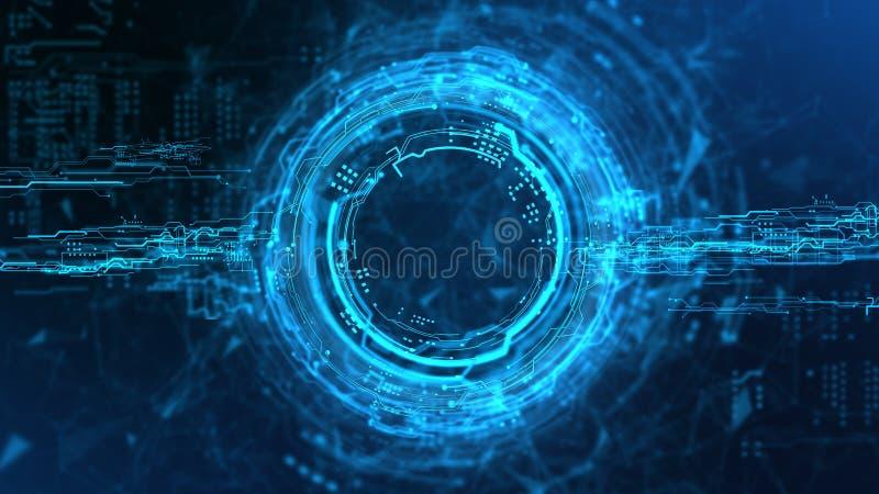 Holograma de la corriente de la energía ilustración del vector