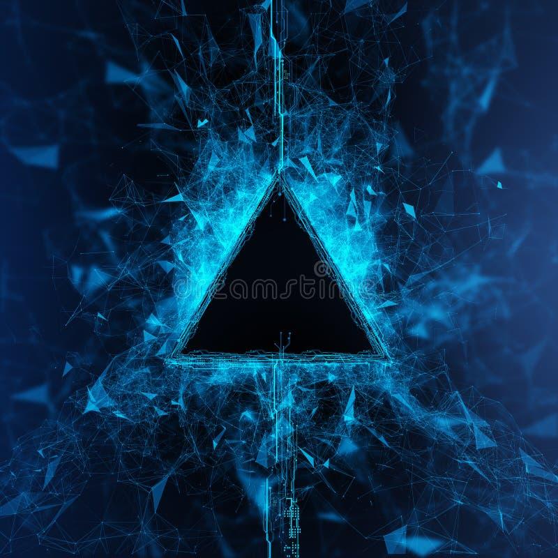 Holograma do córrego da energia ilustração stock