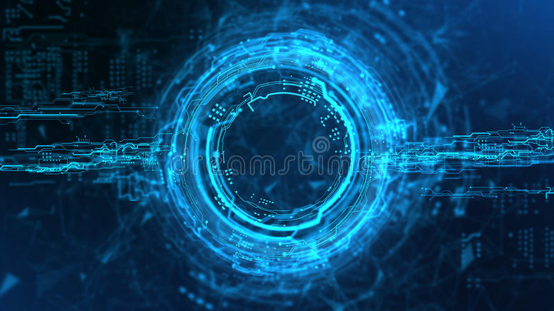 Holograma do córrego da energia ilustração do vetor