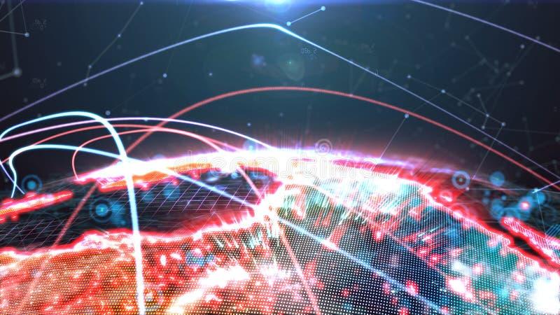 Holograma do globo de Digitas ilustração royalty free