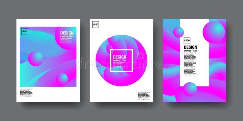 HologramAbstact bakgrund, malldesign, 3D vektor, Hologra stock illustrationer