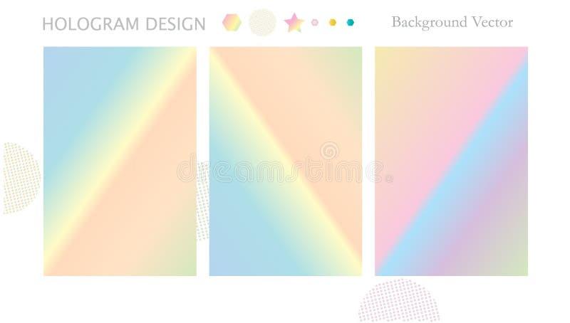 Hologramachtergrond stock illustratie