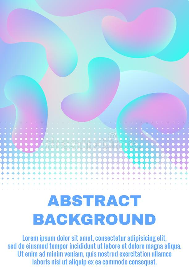 Holographic abstract background with fluid gradient shapes. Futuristic design for website, cover, booklet, banner. Suitable for scientific, medical and vector illustration