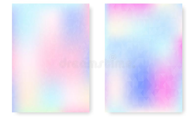 Holographic abstract background in pastel neon color design. Holographic Vector Background. Iridescent Foil. Glitch Hologram. Pastel neon rainbow. Ultraviolet royalty free illustration