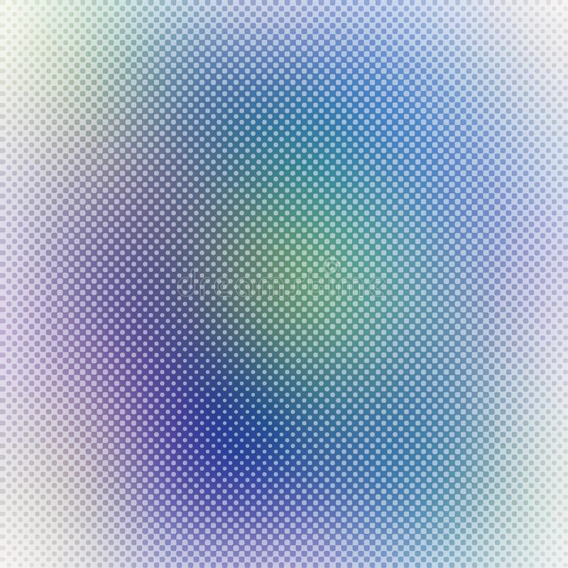 Abstract gradient blurry background with halftone dots texture, colorful vector background stock illustration