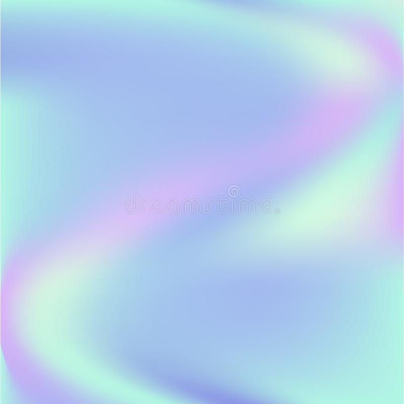 Holographic background. Holo sparkly cover. Abstract soft pastel colors backdrop royalty free illustration