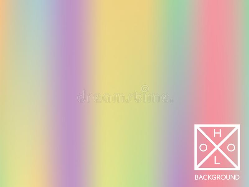 Holographic background. Holo sparkly cover. royalty free illustration