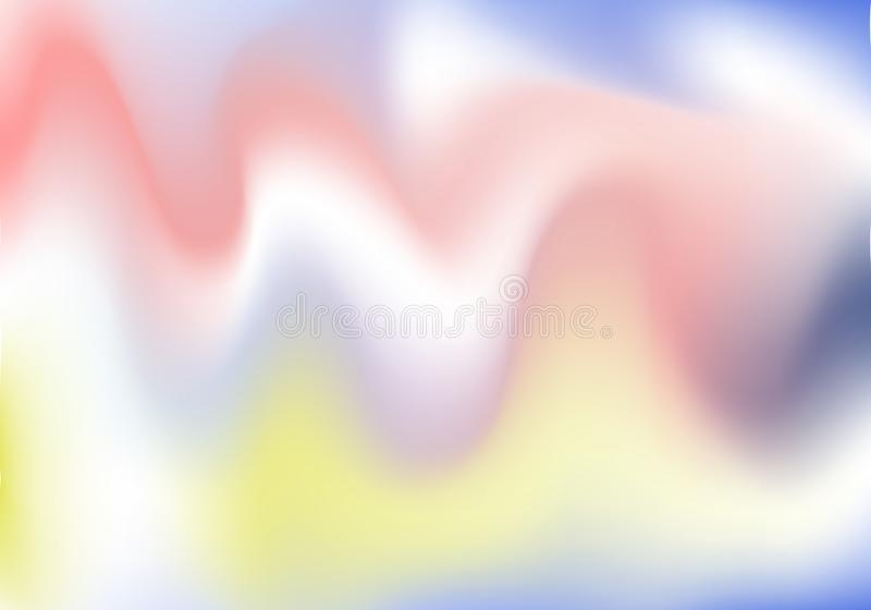 Holographic background. Holo sparkly cover. Abstract soft pastel colors backdrop. Trendy creative vector cosmic gradient. Mesh royalty free illustration