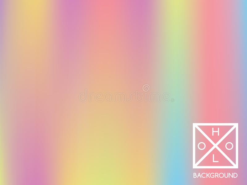 Holographic background. Holo sparkly cover. vector illustration