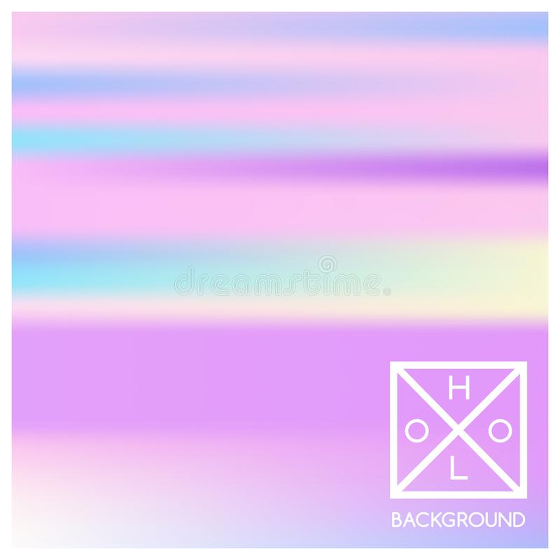 Holographic background. Holo sparkly cover. stock illustration