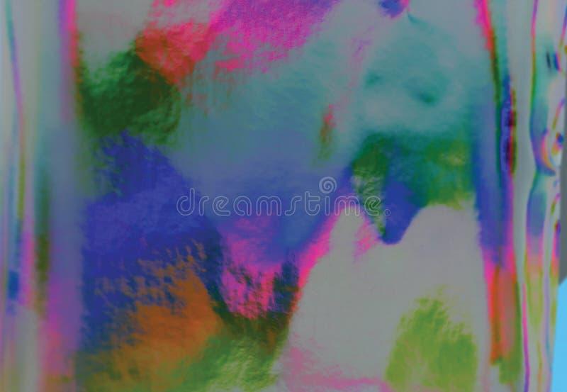 Holographic bakgrund för färgrik fantasi arkivbild