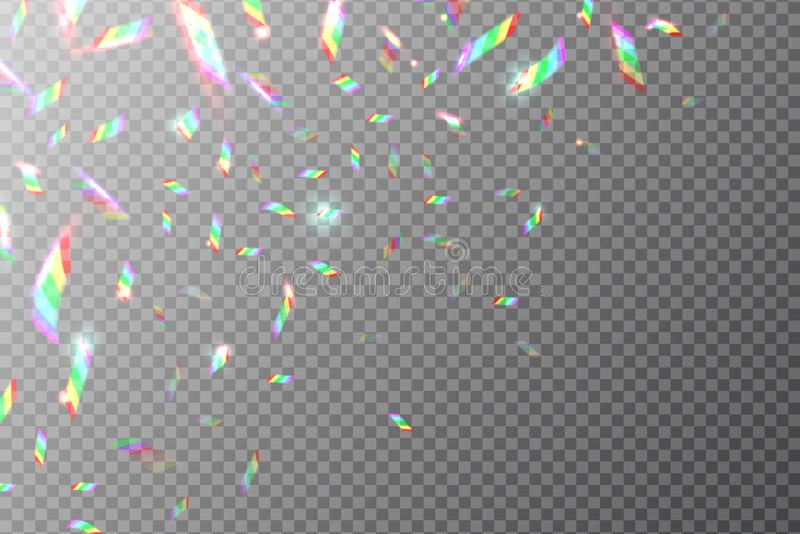 Holographic bakgrund Flygregnbågefolie Skina blänka vektortextur med metallisk reflexionseffekt vektor illustrationer