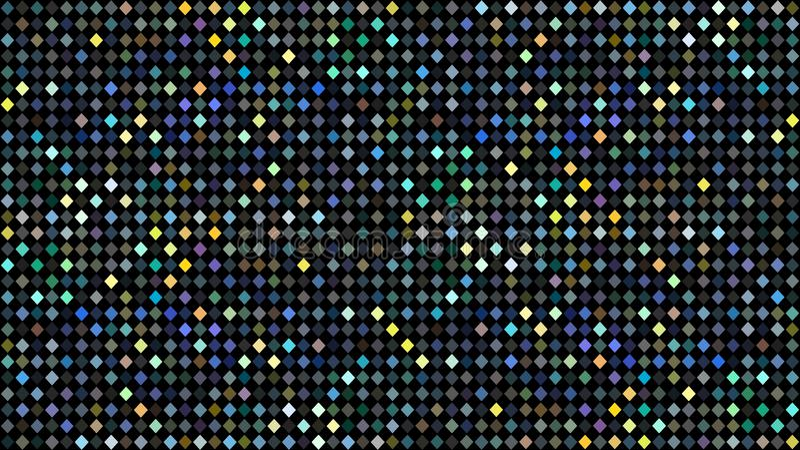 Holographic blå grön gul prickmosaikmodell Abstrakt begrepp blänker diskobakgrund royaltyfri illustrationer