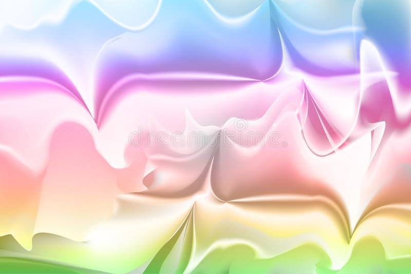 Holographic Foil beautiful rainbow texture background. stock illustration