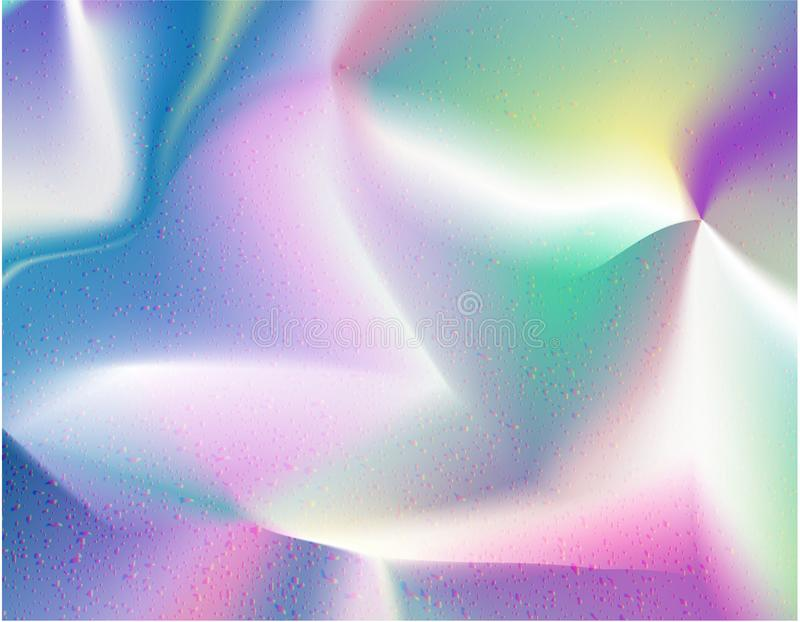 Holographic Foil beautiful rainbow texture. royalty free illustration