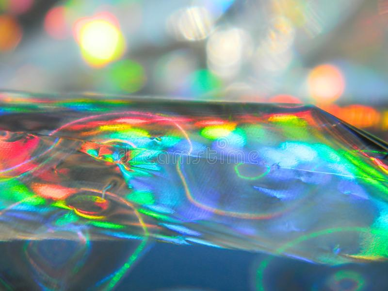 Holographic foil. bright and colorful royalty free stock photo