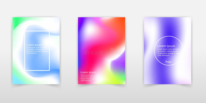 Holographic folie Mycket härlig regnbågetextur Underbar magisk bakgrund Färgrikt kort för fantasi Regnbågsskimrande konst Moderik stock illustrationer