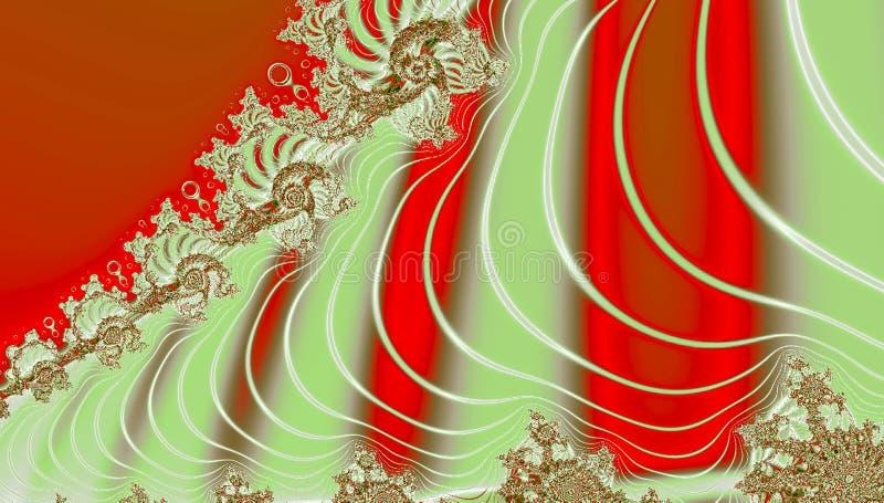 Holographic foliebakgrund i röda och vita linjer för apelsin, royaltyfri illustrationer
