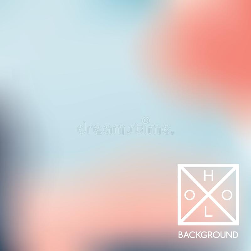 Holographic gradient background. Blue, red, pink, turquoise fluid colors. stock illustration