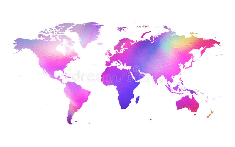 Holographic map. An illustration of a holographic earth map vector illustration