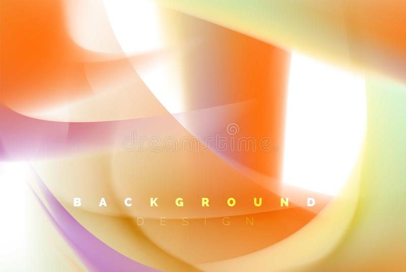 Holographic paint explosion design, fluid colors flow, colorful storm. Liquid mixing colours motion concept, trendy stock illustration