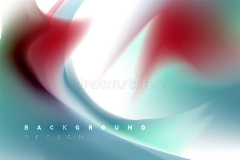 Holographic paint explosion design, fluid colors flow, colorful storm. Liquid mixing colours motion concept, trendy royalty free illustration