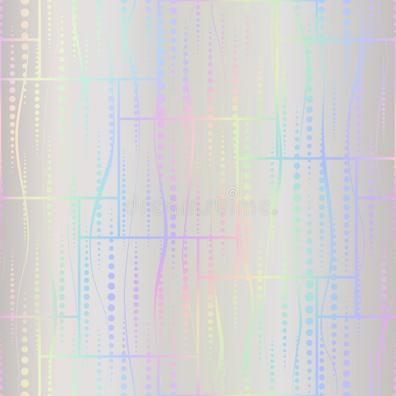 Free Holographic Seamless Pattern. Hologram Effect Foil. Rainbow Background. Iridescent Design For Prints In Neon Colors. Repeated Mode Stock Image - 208146881