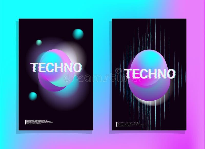 Holographic vaporwave f?r utj?mnare stock illustrationer
