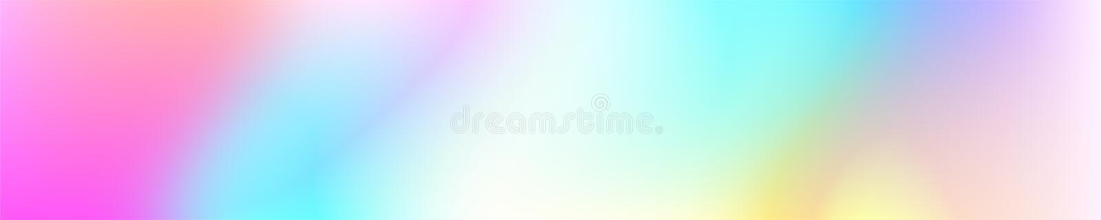 Holographic Vector Background. Iridescent Foil. Glitch Hologram. Pastel neon rainbow. Ultraviolet metallic paper. Template for presentation. Cover to web vector illustration