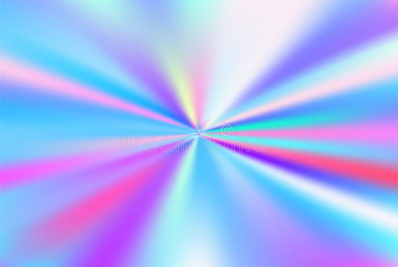 Holographic Vector Background. Iridescent Foil. Glitch Hologram. Pastel neon rainbow. Ultraviolet metallic paper. Template for presentation. Cover to web stock illustration