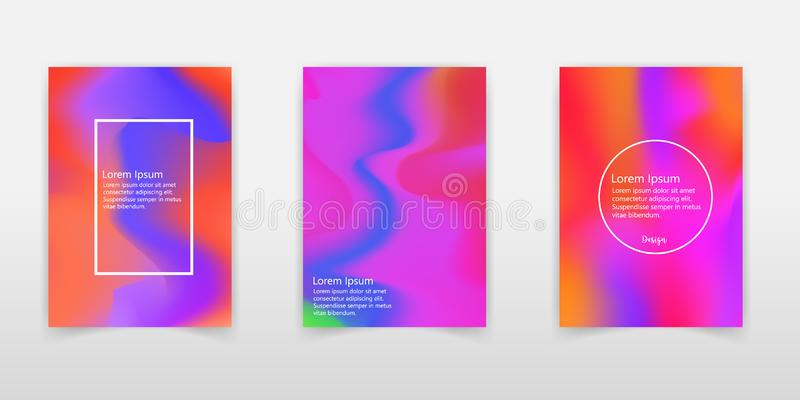 Holographic Vector Background. Iridescent Foil. Glitch Hologram. Pastel neon rainbow. Ultraviolet metallic paper. Template for. Presentation. Cover to web royalty free illustration