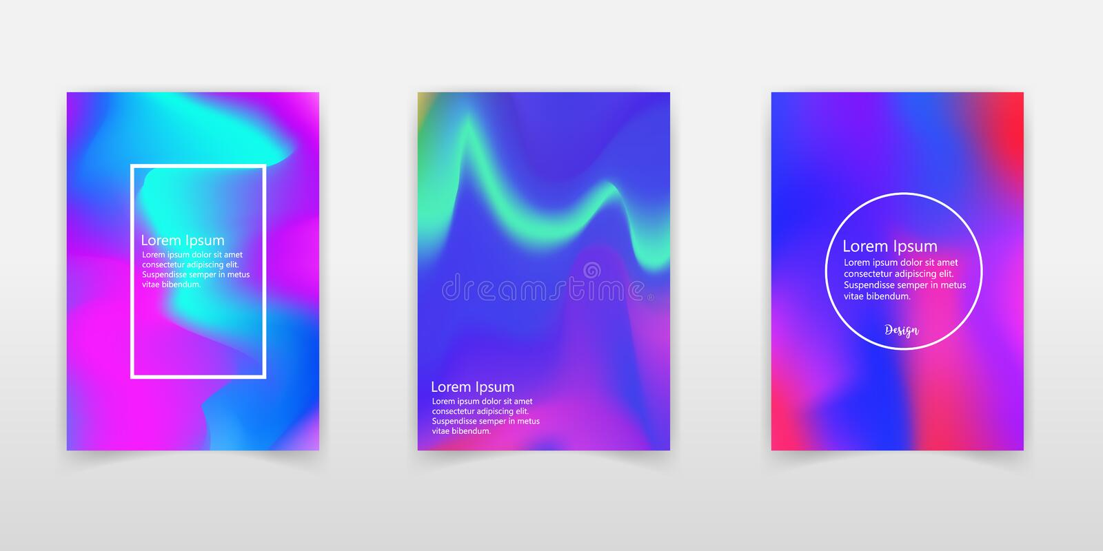 Holographic Vector Background. Iridescent Foil. Glitch Hologram. Pastel neon rainbow. Ultraviolet metallic paper. Template for. Presentation. Cover to web stock illustration
