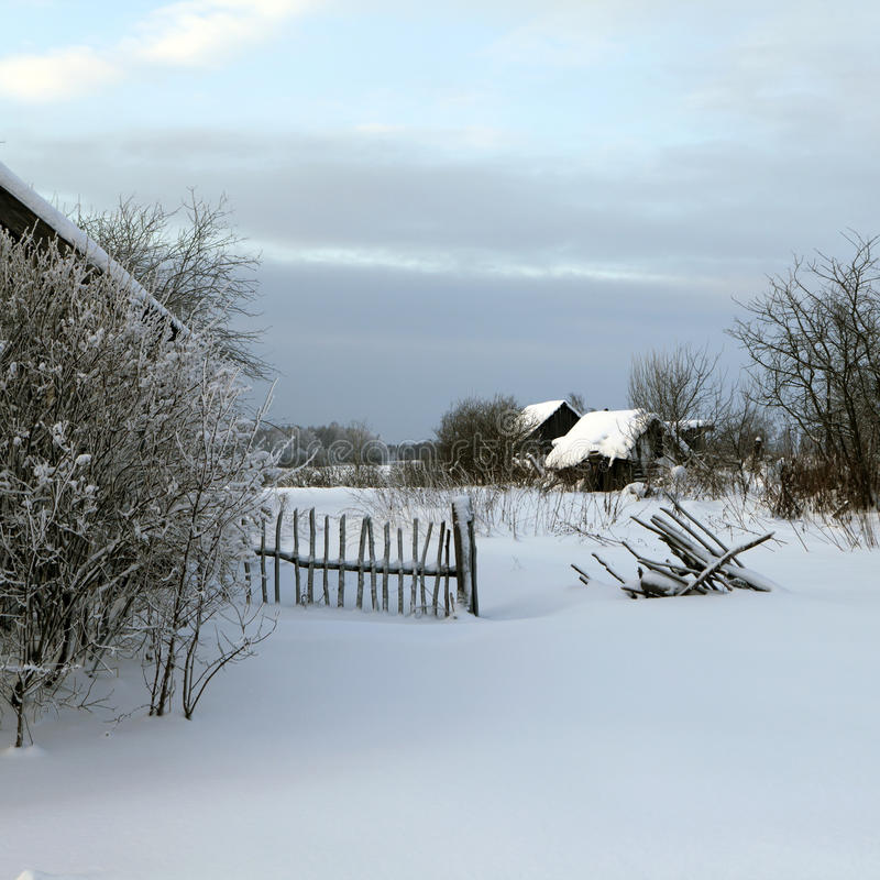 Download Holoholnya Village In Russia In Winter Time. Stock Image - Image: 17799101