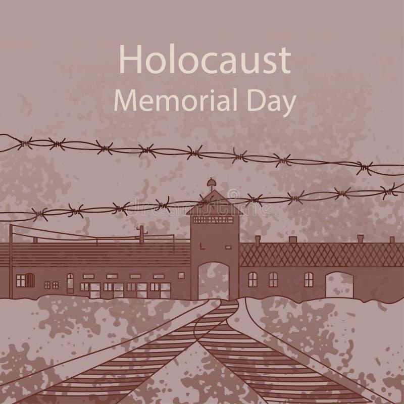 Holokausta dzień pamięci royalty ilustracja