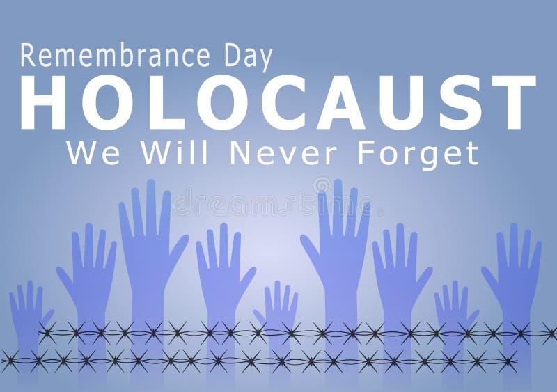 Holokausta wspominania dzień ilustracja wektor